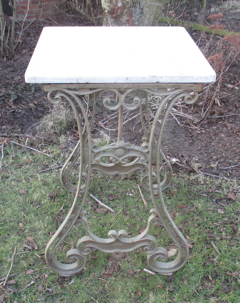 antique old butchery table cast iron